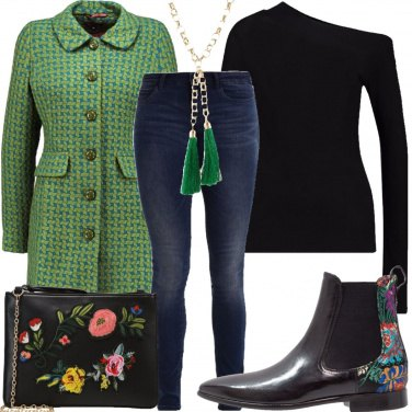 Outfit Il cappotto verde