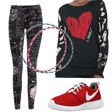 Outfit Hula hop leggings modellanti