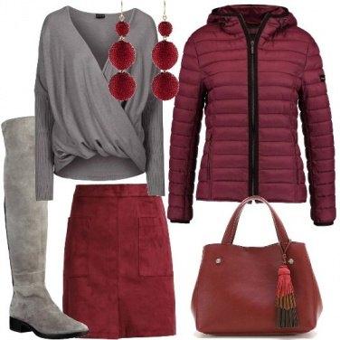 Outfit I colori del vino rosso
