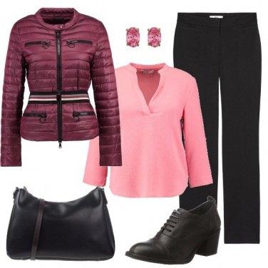 Outfit Il nero e il rosa