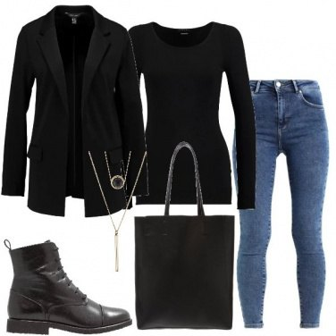 Outfit Blazer ed anfibi