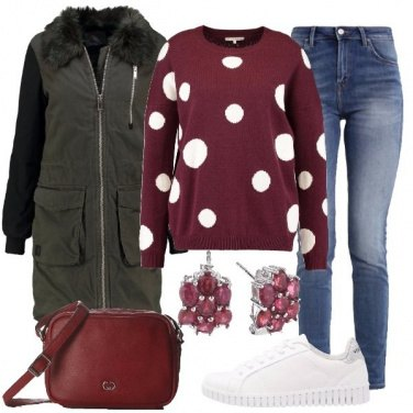 Outfit Il maglione a pois