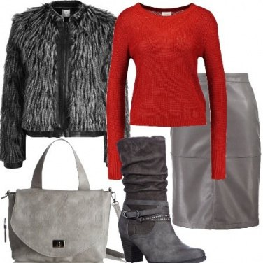 Outfit La gonna in similpelle