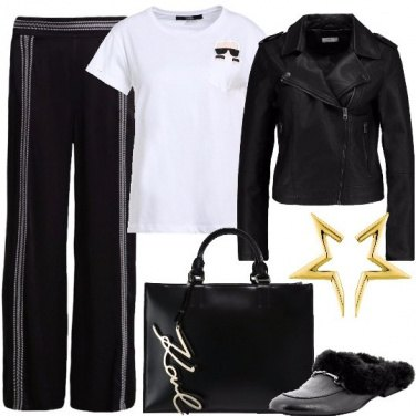 Outfit Biker chic