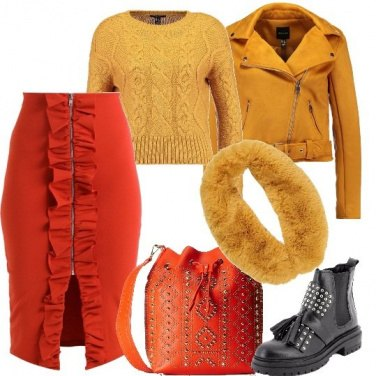Outfit Rock colorato