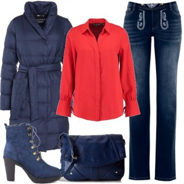 Outfit Jeans con ricamo