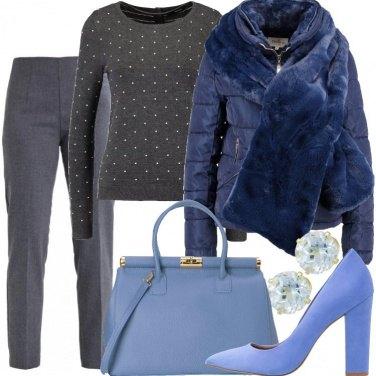 Outfit Sfumature di blu e grigio