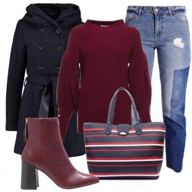 Outfit Righe e denim