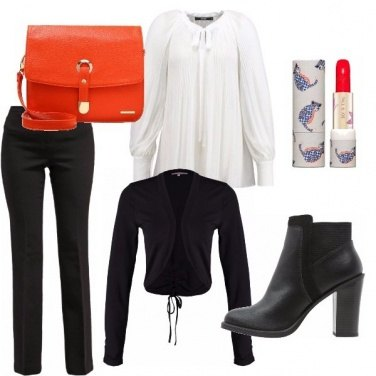 Outfit Orange vs black