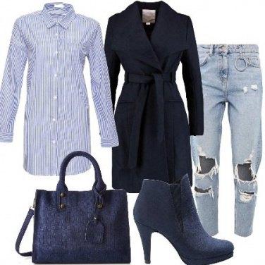Outfit Baggy e tacco alto
