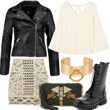 Outfit Contrasti rock