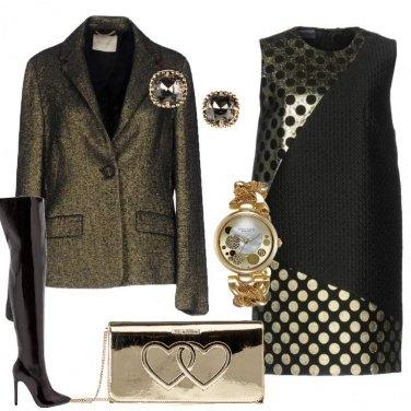 Outfit Pois e lamé