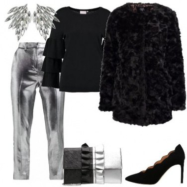 Outfit Pantaloni argento