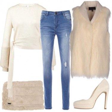 Outfit Il gilet di pelliccia