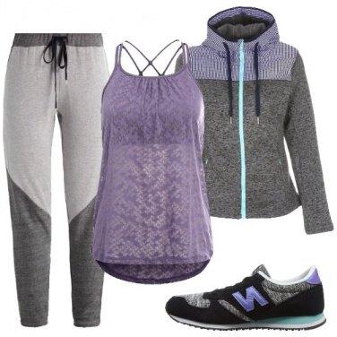 Outfit Sportiva in lilla