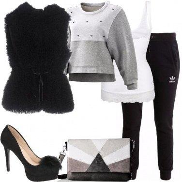 Outfit Maglione e tacco