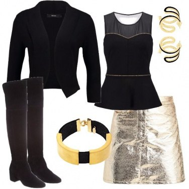 Outfit Dorato e nero