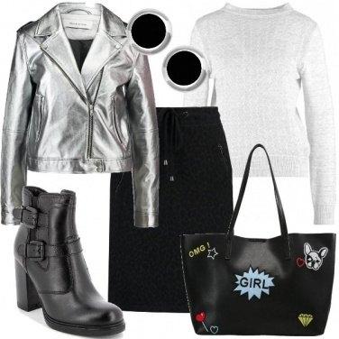 Outfit Il biker argentato