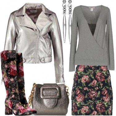 Outfit Gli stivali con i fiori