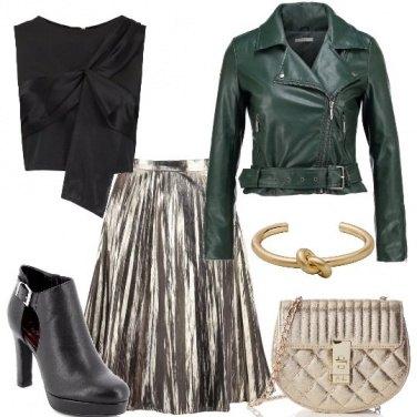 Outfit Il biker verde