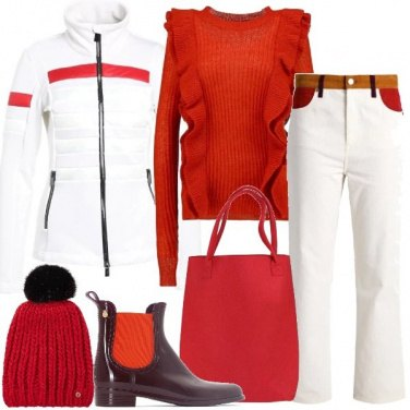 Outfit La giacca in pile con stile