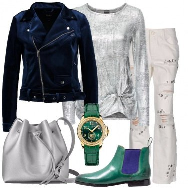 Outfit Jeans e silver