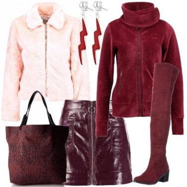 Outfit La giacca di pile rossa