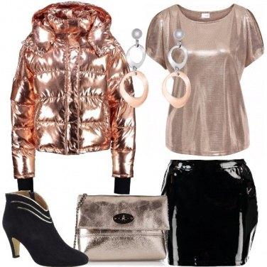 Outfit Il piumino metallizzato