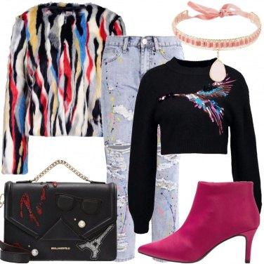 Outfit La giacca multicolore