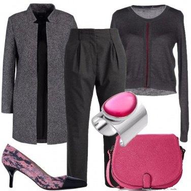 Outfit Tocchi di rosa e tacco medio