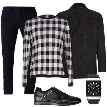 Outfit Scacchi bianchi e neri