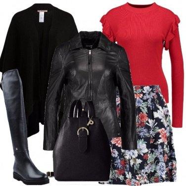 Outfit Giubbotto e mantella