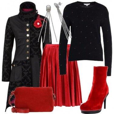 Outfit Tocchi di rosso per essere particolare
