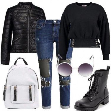 Outfit Nero per la scuola