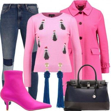 Outfit A pranzo dai miei con il rosa