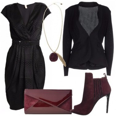 Outfit pois nero su nero