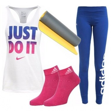 Outfit Sporty chic in leggings