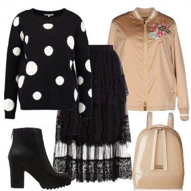 Outfit Pois metropolitano