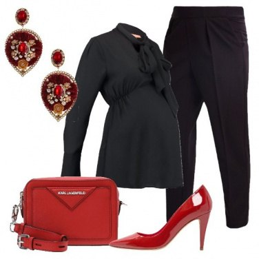 Outfit Fiocco in rosso