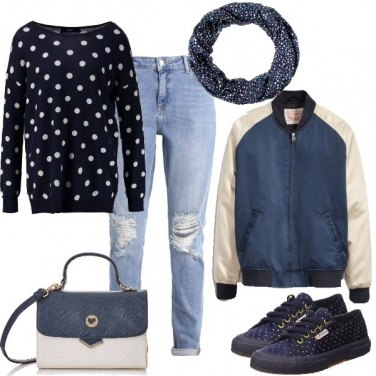 Outfit Molti pois