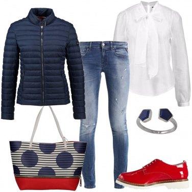 Outfit Pois sulla borsa