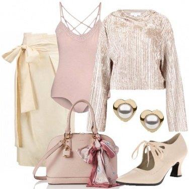 Outfit Cipria per le feste