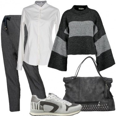 Outfit Grigio sporty glam