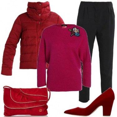 Outfit Il mio tocco di rosso