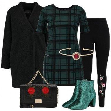 Outfit Leggings e miniabito