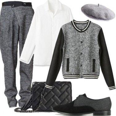 Outfit Melange in mannish