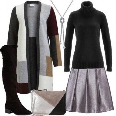 Outfit La gonna argento