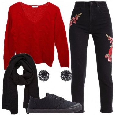 Outfit Pullover rosso