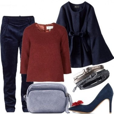 Outfit Velluto e tacco
