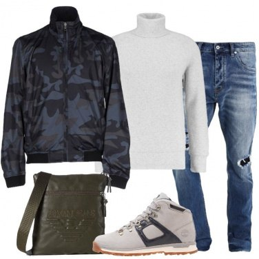 Outfit Il bomber camouflage